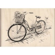 Bicycle Wood Stamp By Inkadinkado