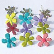 Stitched Flower Brads