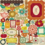 Farmhouse Chipboard Stickers By Crate Paper
