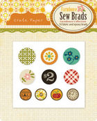 Farmhouse Sew Brads By Crate Paper
