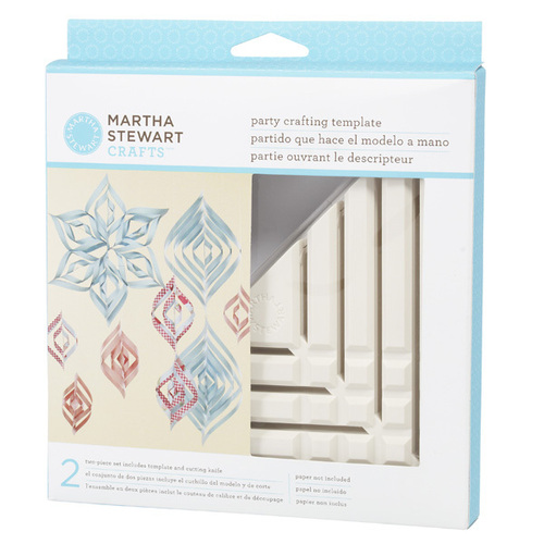 Martha stewart crafts tools small spiral ornament for Snowflake template martha stewart