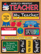 World's Best Teacher Stickers By Reminisce
