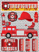 Firefighter Stickers By Reminisce