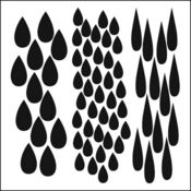 Rain 6 x 6 Stencil - Crafters Workshop