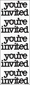 Beetle Black You're Invited - Doodles By Doodlebug