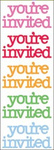 Multicolor You're Invited - Doodles By Doodlebug