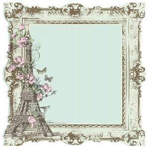 Nancy Die-cut Paper - Bonjour By Kaiser Craft