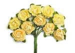Buttercream Mini Paper Blossoms By Kaiser Craft