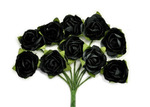 Black Mini Paper Blossoms By Kaiser Craft