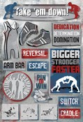 Take 'Em Down Cardstock Stickers By Karen Foster