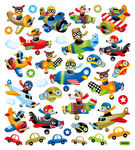 Playful Planes Stickers