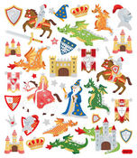 Medieval Times Multicolored Stickers