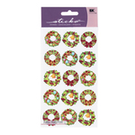 Holiday Wreaths Stickers By Sticko