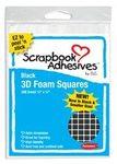 Black Foam 3D Adhesive Squares