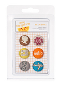 Amy Tangerine Buttons By American Crafts