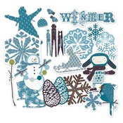Winter Twig Chipboard Shapes By LYB