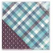 Winter Plaid Paper - Winter Twig By LYB