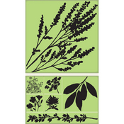 Country Side Silhouettes Cling Stamp Set By Inkadinkado