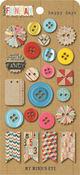 Happy Days Buttons - Kraft Funday By My Minds Eye