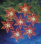 Poinsettias Holiday Beaded Ornament Kit