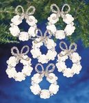 Frosted Wreath Holiday Beaded Ornament Kit