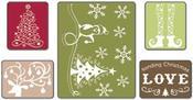 Sending Christmas Love Set Embossing Folders By Sizzix