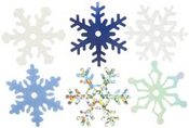 Winter Shimmer Snowflakes Shapes