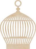 Round Birdcage Wood Flourish By Kaiser Craft