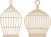 Small Birdcages Wood Flourishes By Kaiser Craft