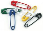 Primary Color Safety Pins