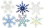Large Winter Shimmer Snowflakes Shapes