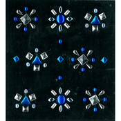 Blue And Silver Stud Stickers By Jolee's