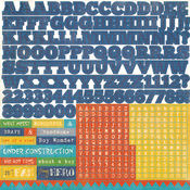 A Boys Life Alpha Sticker Sheet By Echo Park