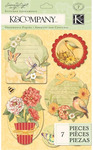 Meadow Stitched Adornments - Susan Winget By K & Company