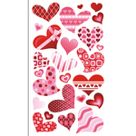 Funky Hearts Stickers