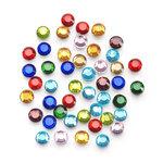 5mm 400 pieces Multi Color Glass Hot - fix Stones