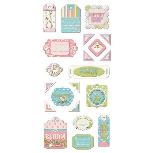 Cotton Tail Layered Chipboard Tags