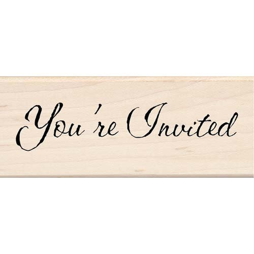 You're Invited Wood Stamp By Inkadinkado