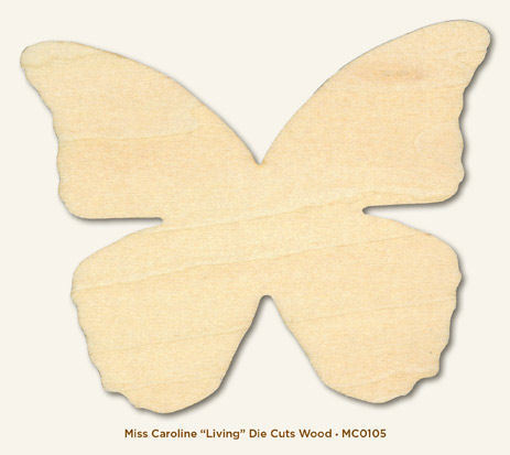 Living Wood Die-cut - Miss Caroline - Dolled Up - MME