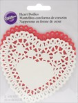 Red & White Heart Doilies