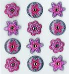 Purple Dot Flower Cabochon Stickers