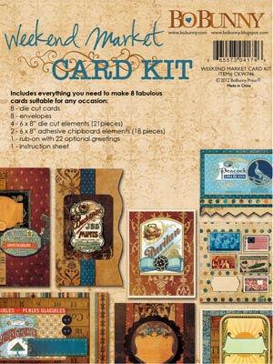 Weekend Market Card Kit By Bo Bunny