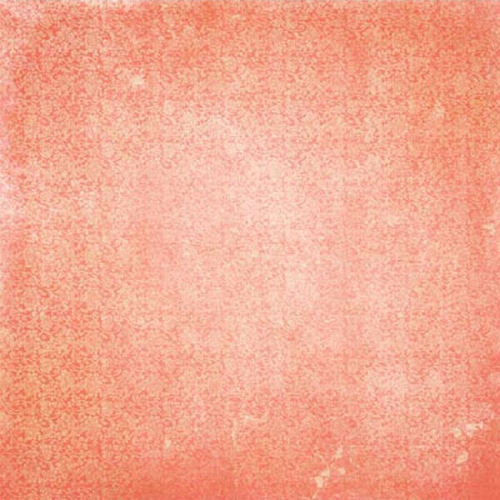 Coral Vintage Paper - Double Dot Vintage By Bo Bunny