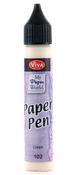 Cream Viva Decor Paper Pen