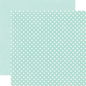 Robin's Egg Small Dot Paper - Homefront By Echo Park