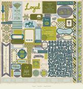 Loyal 12 x 12 Details Sticker Sheet By Authentique