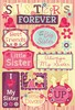 Sisters Forever Cardstock Stickers