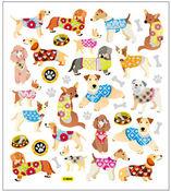 Crazy Dog Stickers