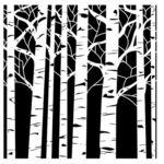 Aspen Tree 12 x 12 Stencil  - Crafters Workshop