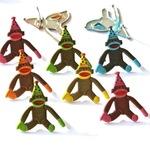 Birthday Sock Monkey Brads